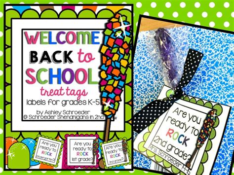 Welcome Back To School Treat Tags For K-5