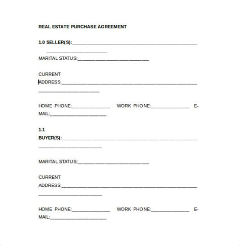 8+ Real Estate Purchase Agreement Samples, Templates