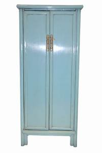 blue cabinet armoire chinese reproduction furniture With kitchen colors with white cabinets with ashland candle holder michaels