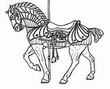 Carousel Coloring Horse Pages War Horses Adults Carosel Advanced Adult Unicorn Colouring Animals Template Books Sketch Printable Realistic Sheets Place sketch template