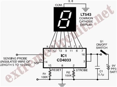 Contactless Mains Voltage Detector Circuit Diagram
