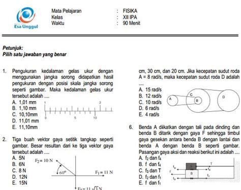 Soal pilihan ganda ujian nasional tingkat sma. Prediksi Soal UN SMA Fisika Paket B dan Kunci Jawaban ...