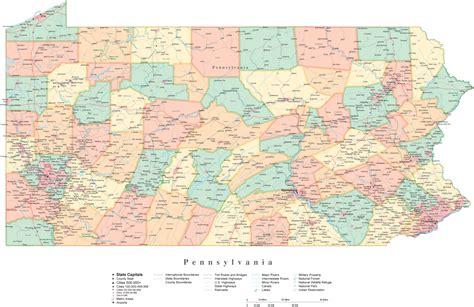 pennsylvania state map with cities afputra com