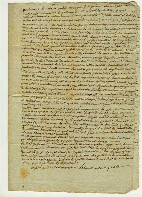 acte de vente maison 224 st and 233 ol le chateau en 1765
