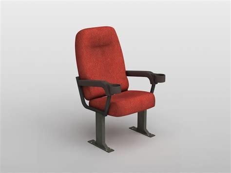 3d model cinema chair vr ar low poly max obj 3ds fbx