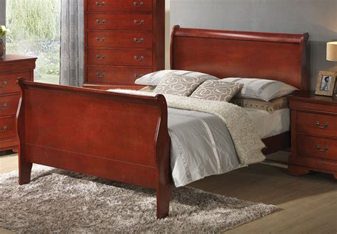louis philippe sleigh bed louis philippe cherry sleigh bed from coaster