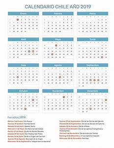 Calendario Chile año 2019 Feriados