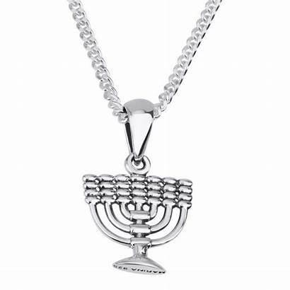 Jewelry Necklace Menorah Silver Marina Israeli Jewish