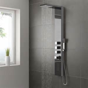 walk in shower ideas for bathrooms milan modern chrome tower shower panel from