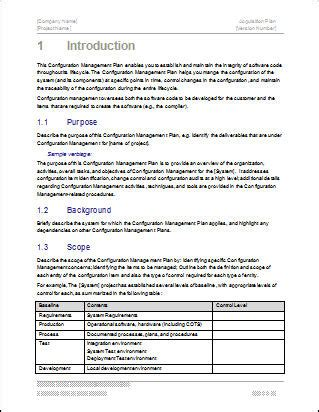 configuration management plan   page ms word