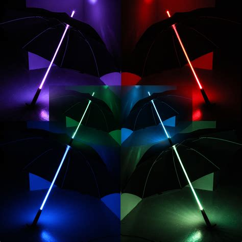 led umbrella lights light sabre rainbow led multi colour changing umbrella