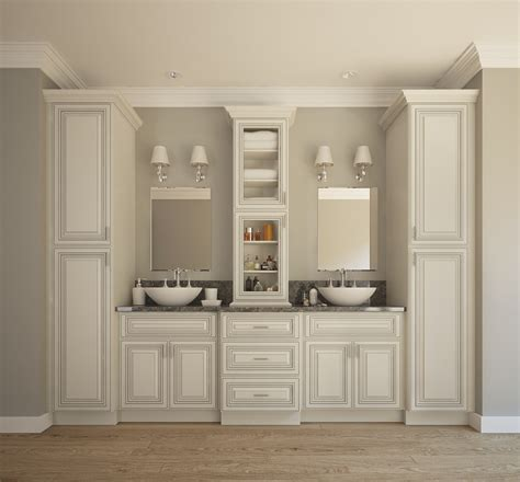 signature vanilla glaze pre assembled bathroom vanities