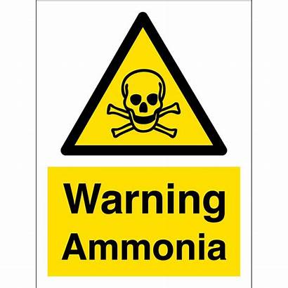 Ammonia Warning Signs Hazard Safety Toxic Material