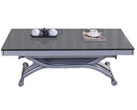 table basse verre roulette table basse ou desserte sur roulettes verre fum  mtal  table