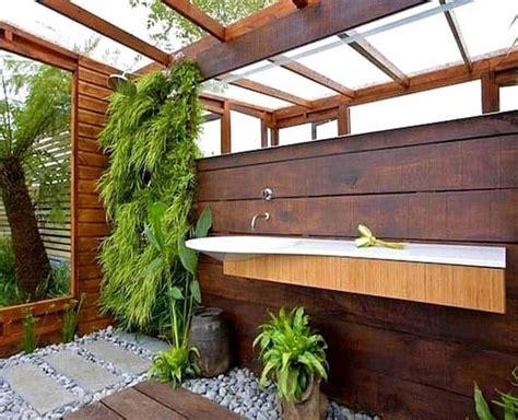 Outdoors Bathroom : Outdoor Bathroom In The Middle Of A Tropical Garden