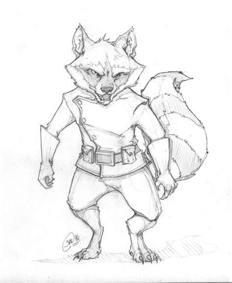 rocket raccoon sketch  megume  deviantart