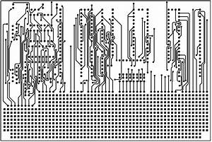 8051 development system circuit board With circuit board lines
