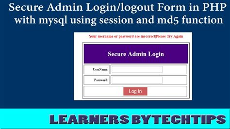 login form in php with session and validation login form in php and mysql with validation code