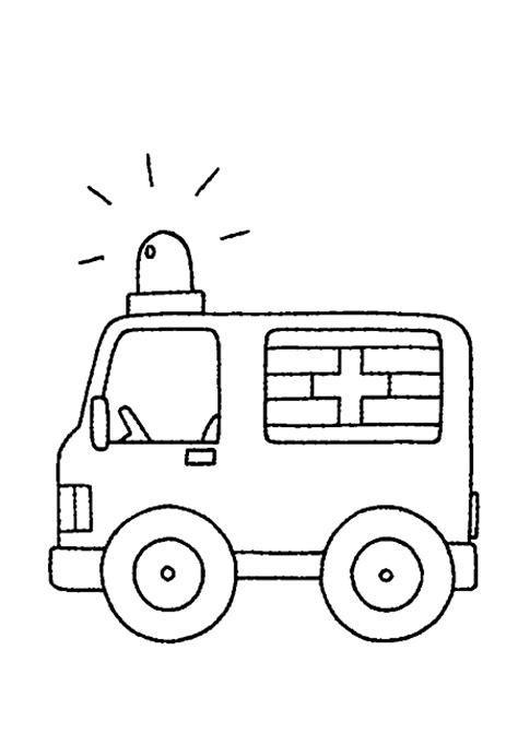disegni  bambini da colorare ambulanza disegni da