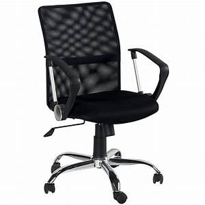 Chaise De Bureau Pivotante CHICAGO Coloris Noir