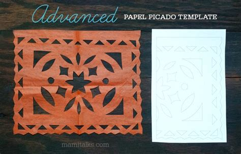 Papel Picado Template For by Mami Talks Papel Picado Templates