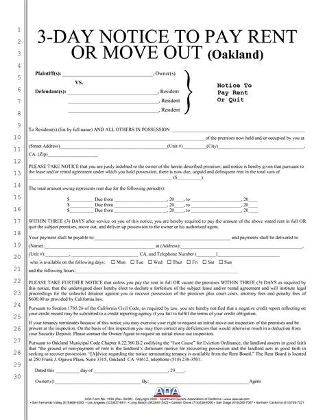 free 3 day notice form 10 best images of three day notice california 3 day pay