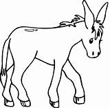 Donkey Coloring Walking Pages Animals Cartoon Kid Printable Cute Getcoloringpages sketch template
