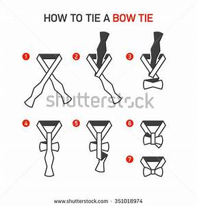 how tie bow tie instructions vector stock vector 351018974 With scarf tying diagram