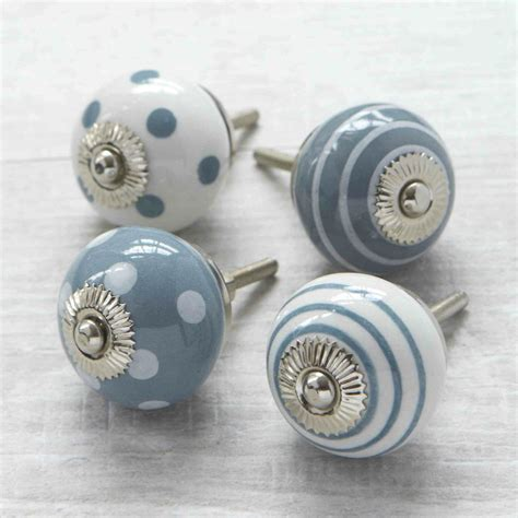 kitchen cabinet door knobs grey spots stripes ceramic cupboard door knob drawer 5285