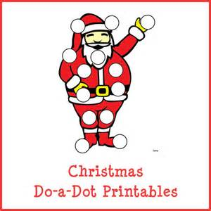 Do a Dot Christmas Printable Worksheets