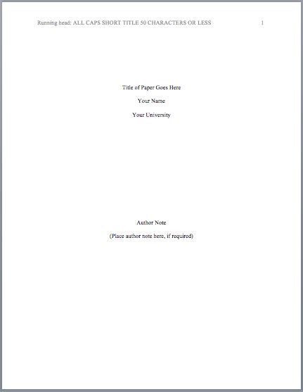 lab report title page format   printable templates lab