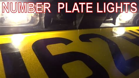 fix rear number plate lights license plate bulbs  wiring  fault youtube