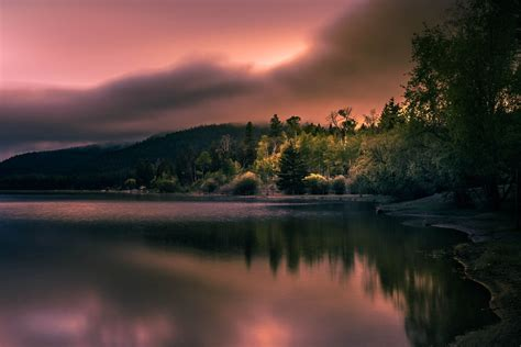 nature photography landscape lake morning sunlight