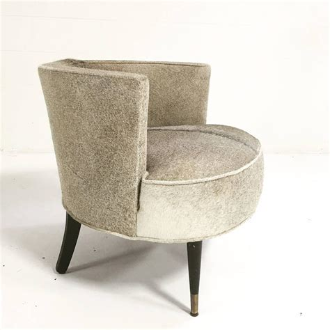 vintage barrel chair in cowhide for sale at 1stdibs