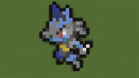[pixelart#01]lucario (??? Sprite) By Gamerrukario On