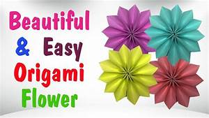Beautiful Paper Origami Flowers