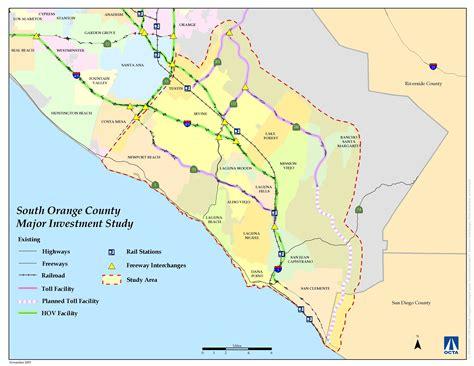 orange county map orange county california mappery