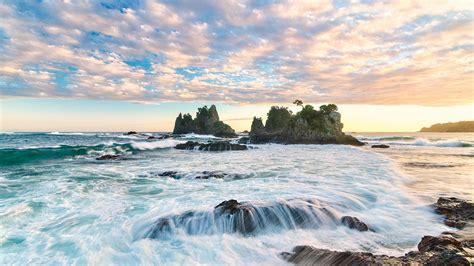 sunrise   japanese coast beach nature hd wallpaper