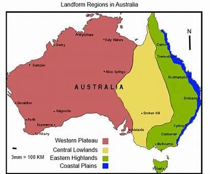 Australia Landforms Australian Physical Biomes Landform Regions