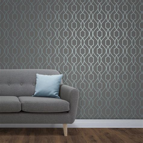 apex charcoal  teal trellis wallpaper  fine decor fd