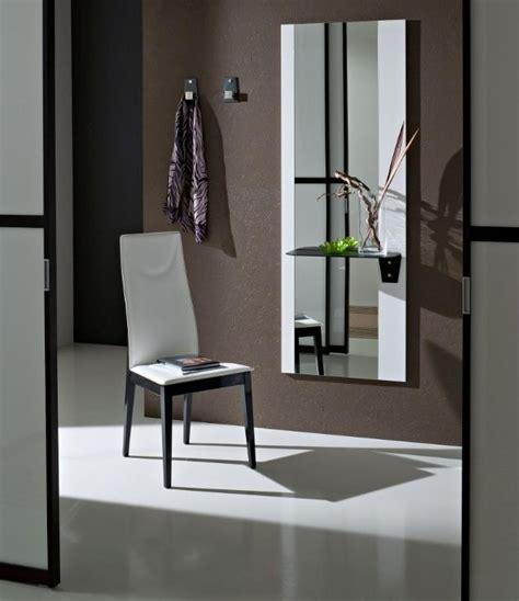 specchio con mensola per ingresso consolle ingresso moderno colore bianco con specchio e
