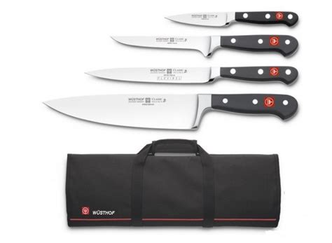 wusthof kitchen knives high quality knife bag with 4 wusthof classic knives