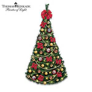 thomas kinkade victorian traditions pre lit fully decorated christmas wall tree