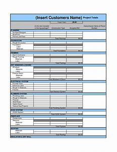 Drywall cost estimate worksheet template download for Drywall bid template