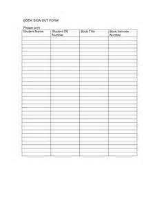 Book Sign Out Sheet Template