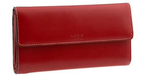lodis audrey checkbook clutch wallet  red lyst