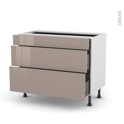 meuble cuisine casserolier meuble de cuisine casserolier keria moka 3 tiroirs l100 x