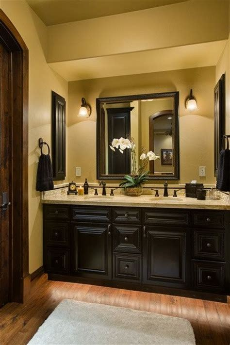 for the master bath espresso black painted bathroom cabinets ideas for the house