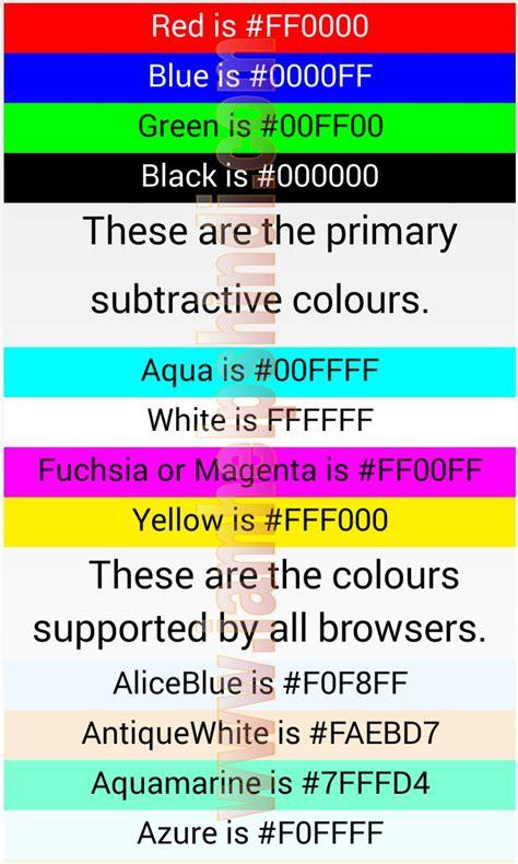 htmljavascript color code   helps hindi