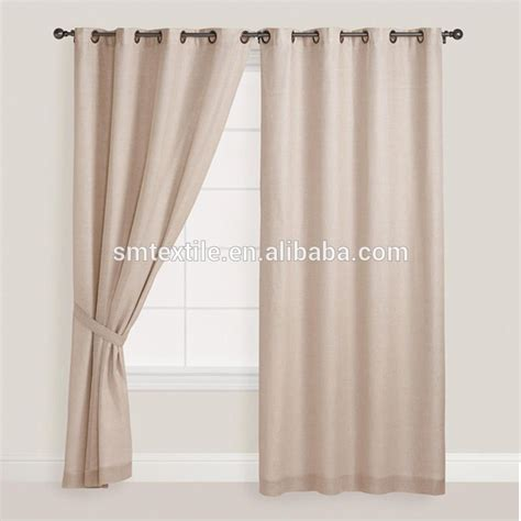 100 nature linen curtain with matching window curtain for